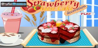 Strawberry Cheese Cake decoration